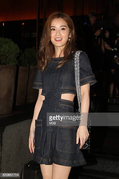 Actress and singer Charlene Choi attends the premiere of film ' Good Take' on April 12 2016 in Hong Kong China
