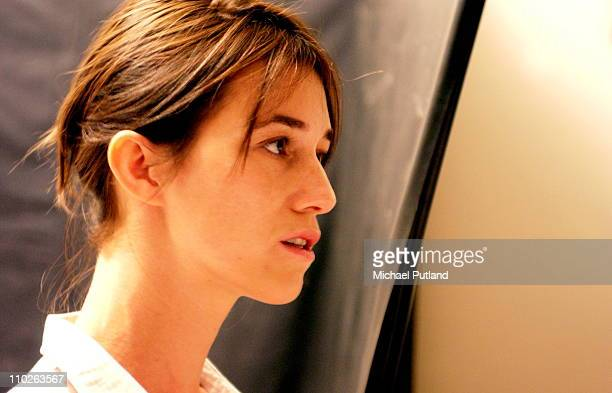 Actress and singer Charlotte Gainsbourg backstage at the 2003 Venice Film Festival