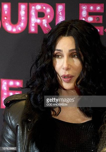 US actress and singer Cher poses during the photocall for the movie Burlesque on December 16 2010 in Berlin AFP PHOTO / ODD ANDERSEN