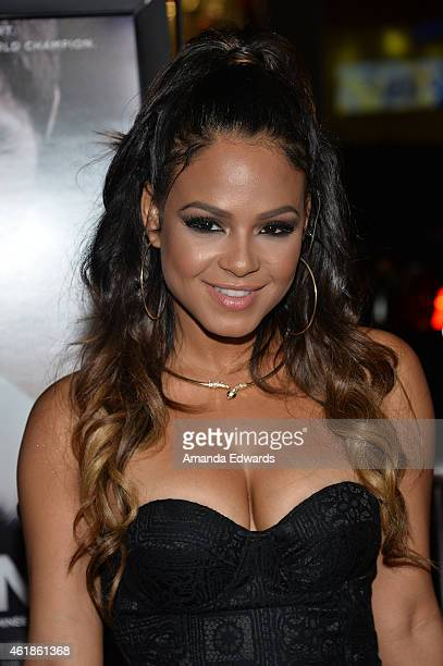 Actress and singer Christina Milian arrives at the Los Angeles premiere of 'Manny' at the TCL Chinese Theatre on January 20 2015 in Hollywood...