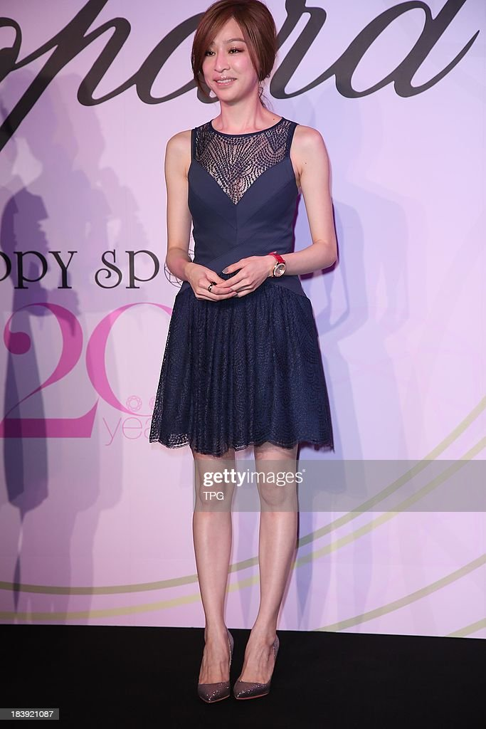 Actress and singer Cindy Wang promotes brand watch on Wednesday,Oct 9,2013 in Taipei,China.