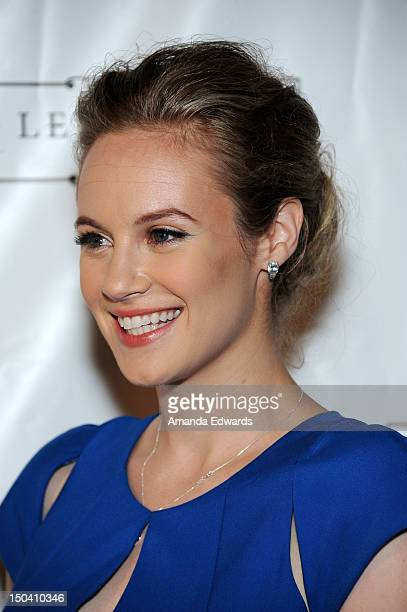 Actress and singer Danielle Savre arrives at the premiere party for her debut music video 'Who Taught You How To' at Lexington Social House on August...