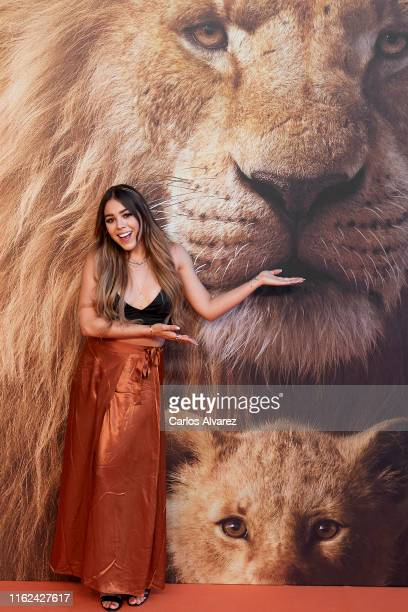 Actress and singer Danna Paola attends 'El Rey Leon' premiere at the Goya Theater on July 16 2019 in Madrid Spain
