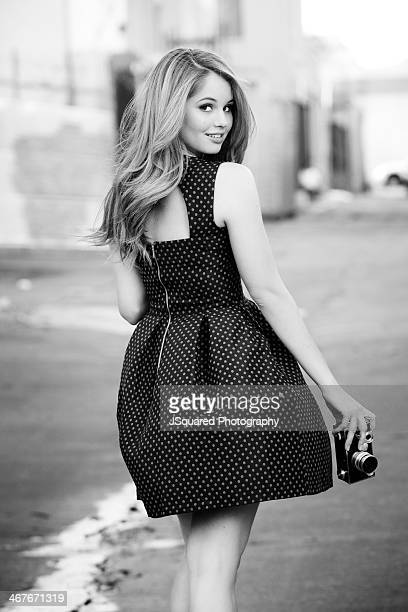 Actress and singer Debby Ryan is photographed for Miabella on July 16 2013 in Los Angeles California
