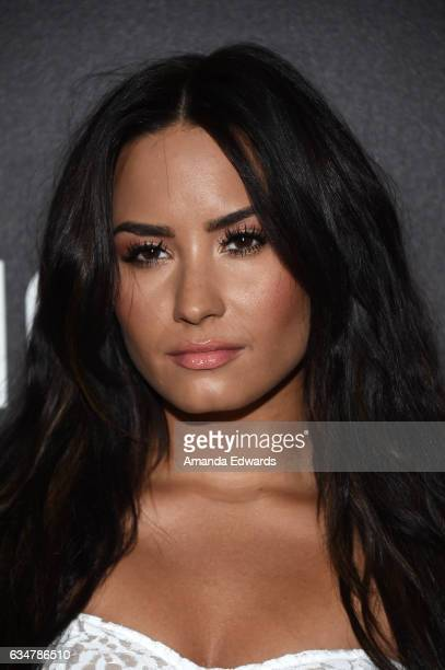 Actress and singer Demi Lovato arrives at Roc Nation's Pre-GRAMMY Brunch on February 11, 2017 in Los Angeles, California.