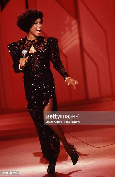 Actress and singer Diahann Carroll during the taping of the syndicated variety series 'On Stage America' on May 25 1984 in Los Angeles California