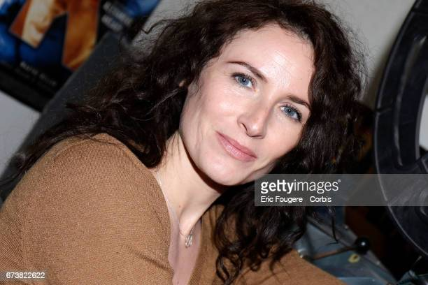 Actress and Singer Elsa Lunghini poses during a portrait session in Paris, France on .