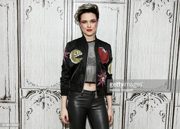 Actress and singer Evan Rachel Wood attends The Build Series Presents Evan Rachel Wood Discusses The New Show 'Westworld' Performs With The Group...