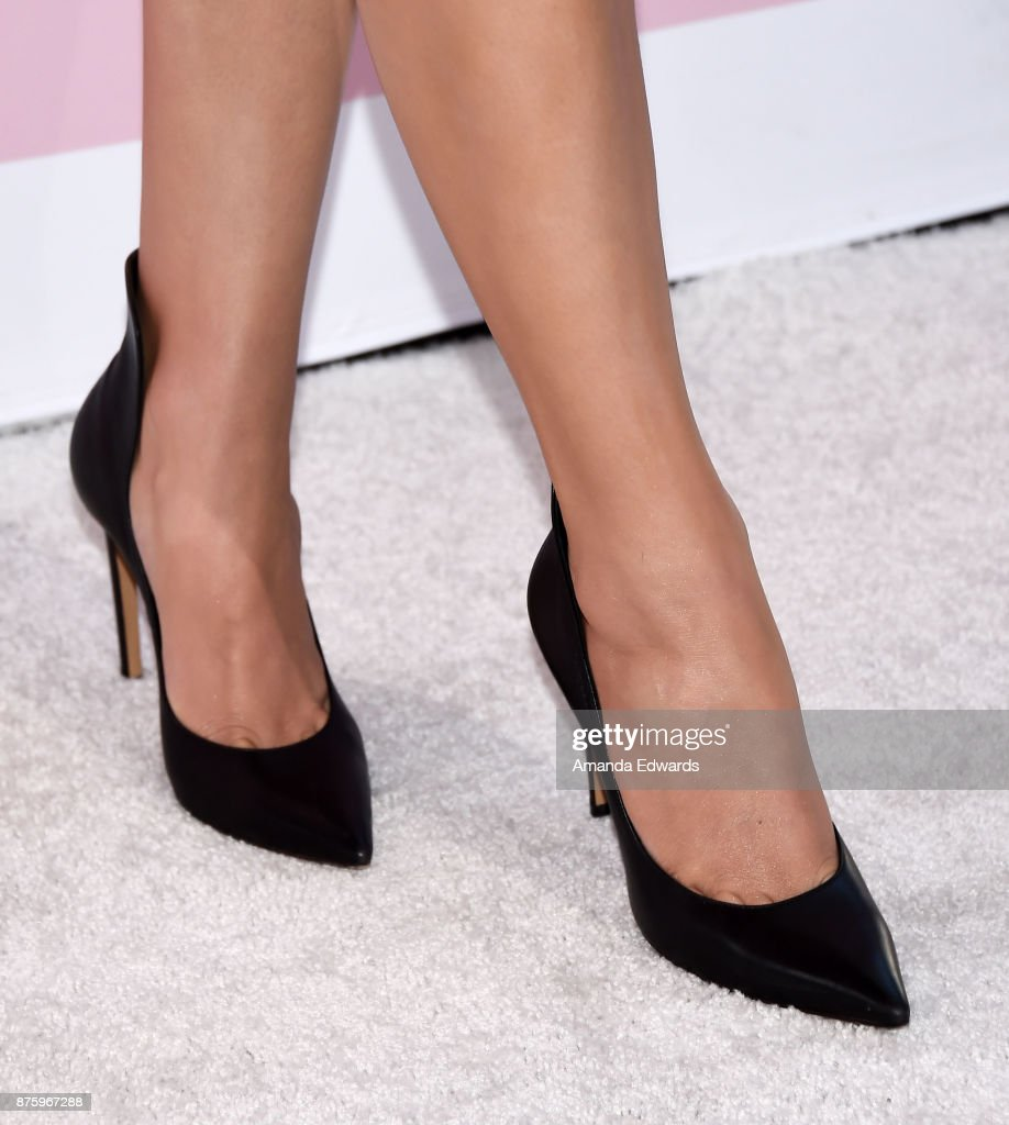 Actress and singer Hailee Steinfeld, shoe detail, arrives at Variety's 1st Annual Hitmakers Luncheon at Sunset Tower on November 18, 2017 in Los Angeles, California.