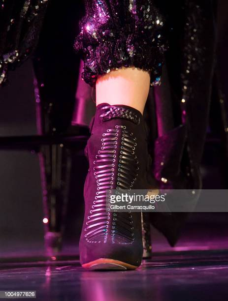 Actress and singer Hailee Steinfeld shoe detail performs during the 2018 Honda Civic Tour presents Charlie Puth Voicenotes with special guest Hailee...