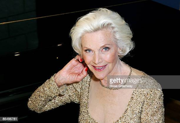 Actress and singer Honor Blackman poses for a photograph whilst recording her single 'The Star Who Fell From Grace' at Angel Studios on May 15 2008...