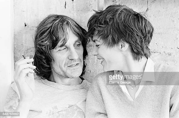 Actress and singer Jane Birkin and her brother Andrew Birkin on the set of Belgianborn director Agnès Varda's film 'Jane B par Agnès V'