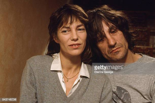Actress and singer Jane Birkin with her brother Andrew Birkin English scriptwriter and actor on the movie set of 'Jane B par Agnès V' directed by...