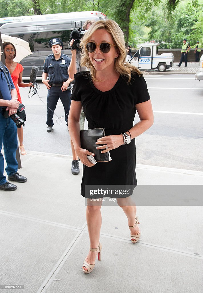 Actress and singer Jane Krakowski arrives at the funeral service for Marvin Hamlisch at Temple Emanu-El on August 14, 2012 in New York City. Hamlisch died in Los Angeles on August 6, 2012 at age 68. In his long and distinguished career, the composer and conductor received a Pulitzer Prize as well as the Oscar, Tony, Emmy and a GRAMMY.