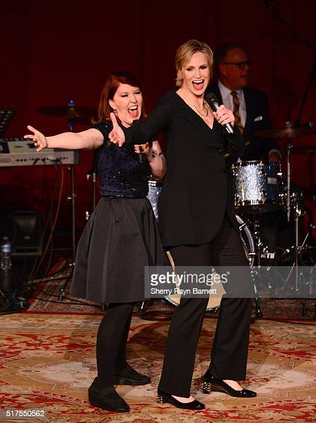 Actress and singer Jane Lynch performs her show 'See Jane Sing' with guest actress Kate Flannery at Largo at the Coronet on March 23 2016 in Los...