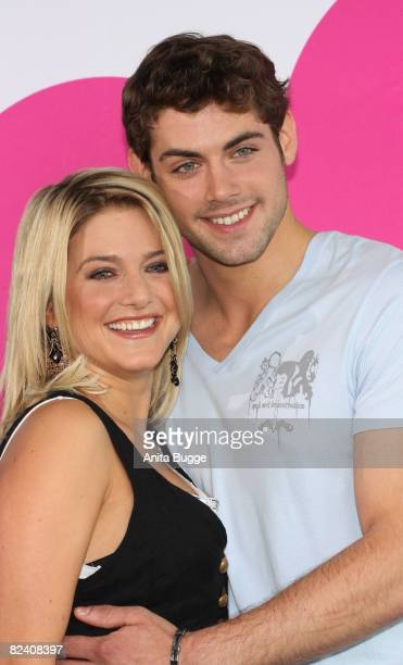 Actress and singer Jeanette Biedermann and actor Roy Peter Link attend a photocall to the new German television SAT1 telenovela 'Anna und die Liebe'...