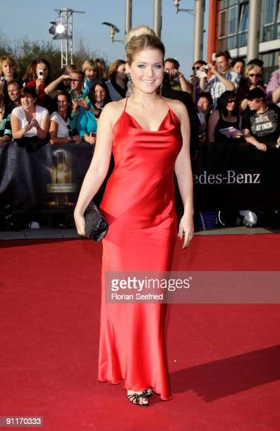 Actress and singer Jeanette Biedermann arrives for the German TV Award 2009 at the Coloneum on September 26 2009 in Cologne Germany