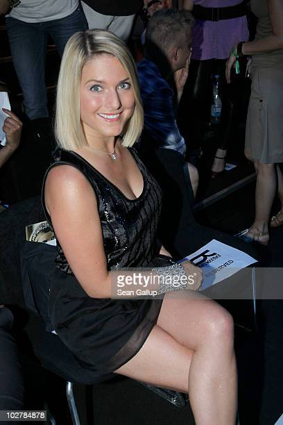 Actress and singer Jeanette Biedermann attends the Kilian Kerner Show during the Mercedes Benz Fashion Week Spring/Summer 2011 at Bebelplatz on July...