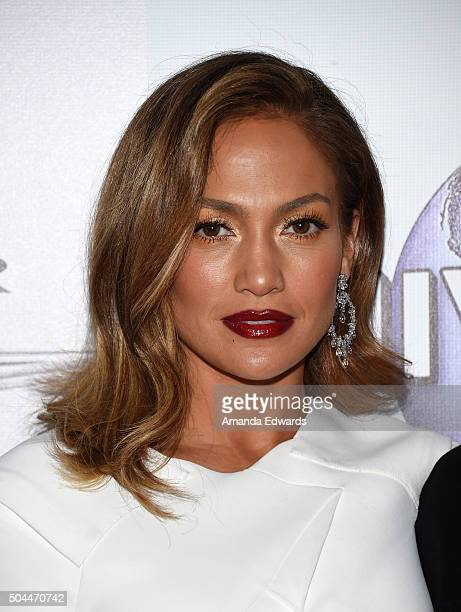 Actress and singer Jennifer Lopez arrives at NBCUniversal's 73rd Annual Golden Globes After Party at The Beverly Hilton Hotel on January 10 2016 in...