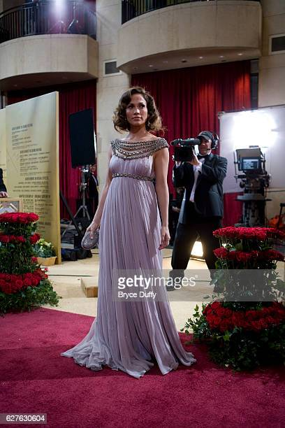 Actress and singer Jennifer Lopez arrives at the 79th annual Academy Awards® held at the Kodak Theatre Dress by Marchesa jewelry by Lorraine Schwartz...