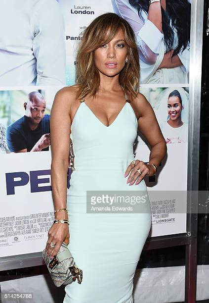 Actress and singer Jennifer Lopez arrives at the premiere of Lionsgate's 'The Perfect Match' at ArcLight Hollywood on March 7 2016 in Hollywood...