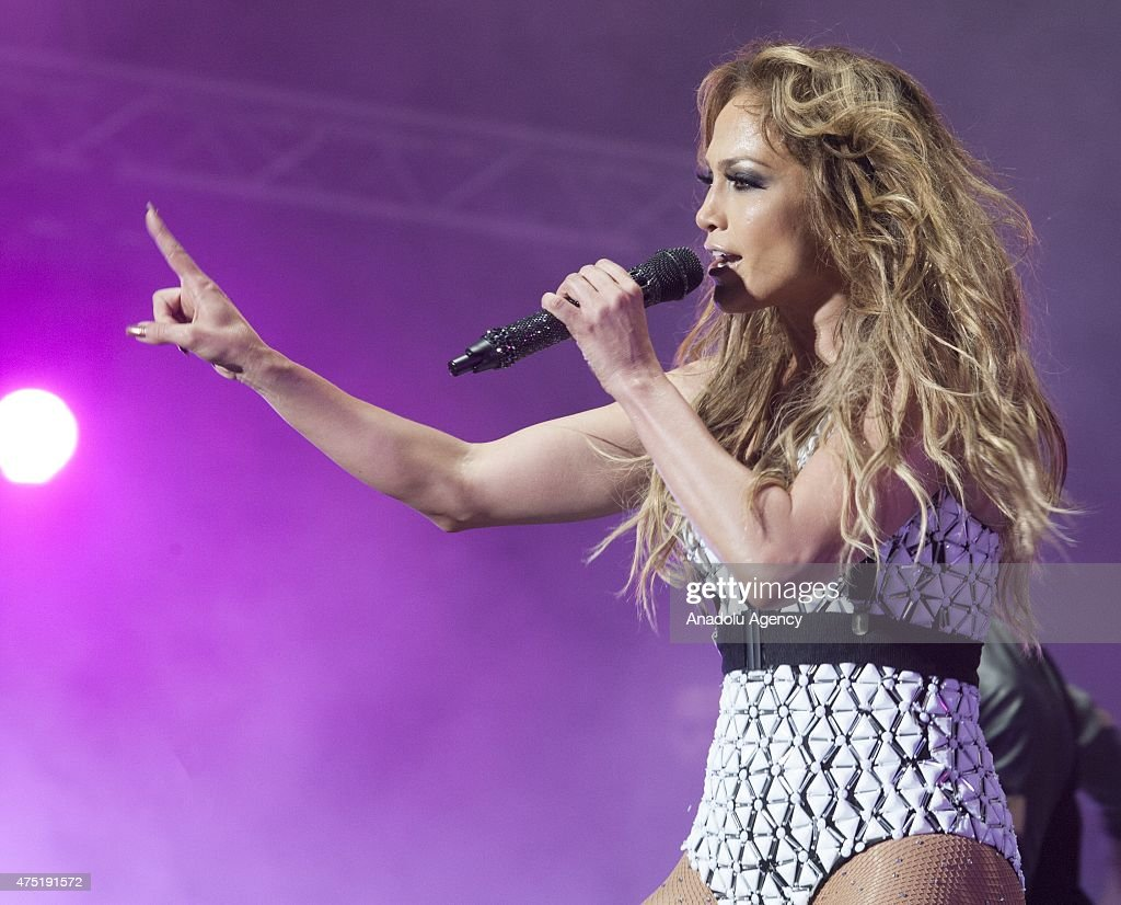 Actress and singer Jennifer Lopez performs on the stage during the opening of the 14th edition of the Mawazine International music festival in Rabat, Morocco on May 29, 2015.