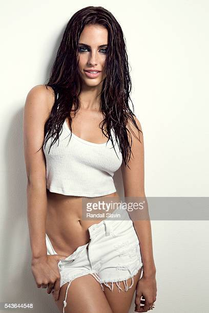 Actress and singer Jessica Lowndes is photographed for Self Assignment on August 17 2014 in Los Angeles California