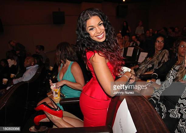 Actress and singer Jordin Sparks attends The Cinema Society with Circa and Alice Olivia screening of Sparkle at Tribeca Grand Hotel on August 14 2012...