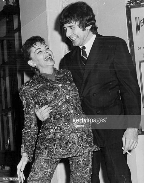 Actress and singer Judy Garland with her husband Mickey Deans January 28th 1969