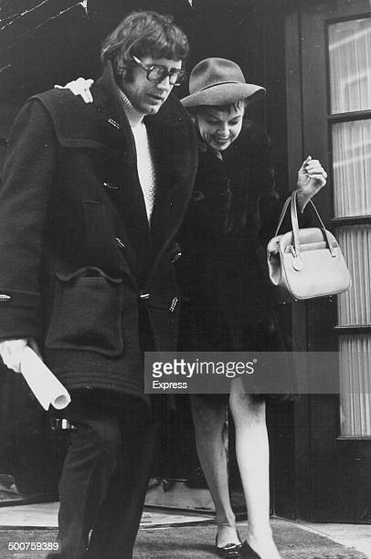 Actress and singer Judy Garland with her husband Mickey Deans leaving the Ritz Hotel London December 30th 1968