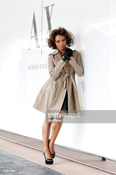 Actress and singer Kat Graham attends AlX Style Sessions at Armani Exchange at Lenox Square on October 10 2011 in Atlanta Georgia