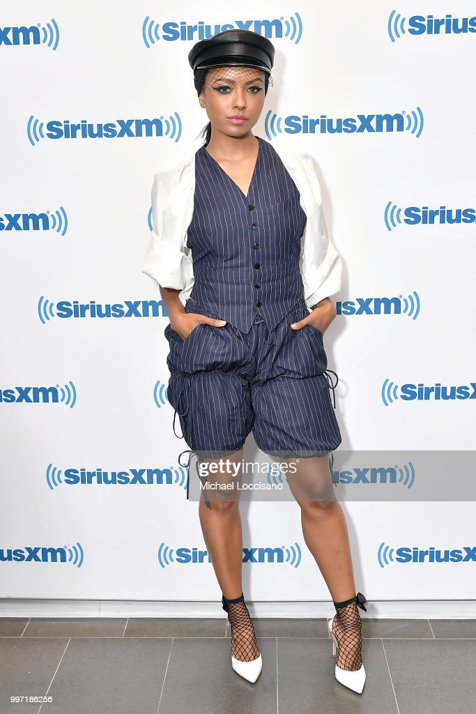 Actress and singer Kat Graham visits SiriusXM Studios on July 12, 2018 in New York City.