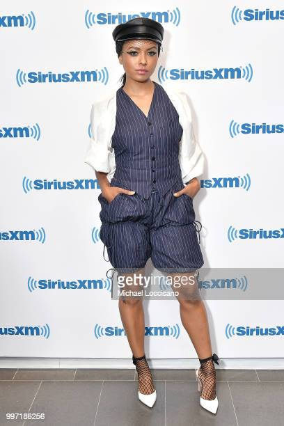 Actress and singer Kat Graham visits SiriusXM Studios on July 12 2018 in New York City