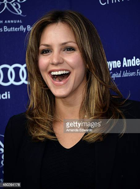 Actress and singer Katharine McPhee arrives at the 13th Annual Chrysalis Butterfly Ball at a private Mandeville Canyon estate on June 7 2014 in Los...