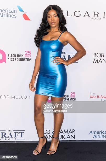 Actress and singer Keke Palmer attends as the Elton John AIDS Foundation commemorates its 25th year and honors founder Sir Elton John during the New...
