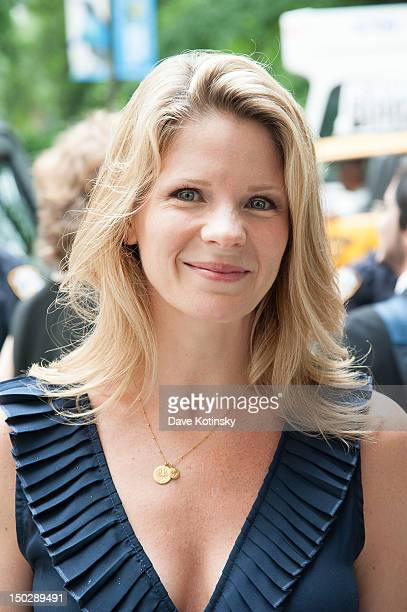 Actress and singer Kelli O'Hara attends the funeral service for Marvin Hamlisch at Temple EmanuEl on August 14 2012 in New York City Hamlisch died in...