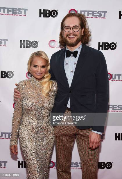 Actress and singer Kristin Chenoweth and writer Bryan Fuller arrive at the 2017 Outfest Los Angeles LGBT Film Festival Opening Night Gala of 'God's...