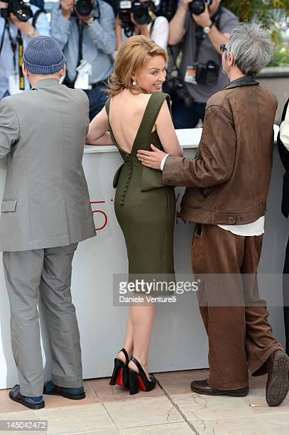 Actress and singer Kylie Minogue and director Leos Carax attend the Holy Motors Photocall during the 65th Annual Cannes Film Festival at Palais des...