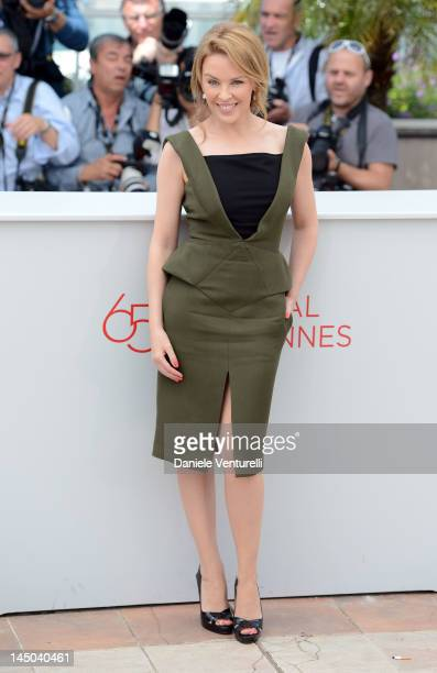 Actress and singer Kylie Minogue attends the 'Holy Motors' Photocall during the 65th Annual Cannes Film Festival at Palais des Festivals on May 23...