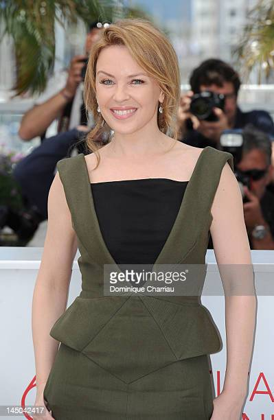 Actress and singer Kylie Minogue attends the Holy Motors Photocall during the 65th Annual Cannes Film Festival at Palais des Festivals on May 23 2012...