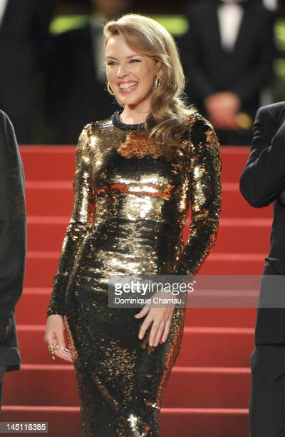 Actress and singer Kylie Minogue attends the Holy Motors Premiere during the 65th Annual Cannes Film Festival at Palais des Festivals on May 23 2012...