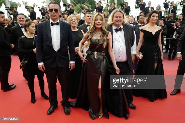 US actress and singer La Toya Jackson poses as she arrives on May 16 2018 for the screening of the film 'Burning' at the 71st edition of the Cannes...