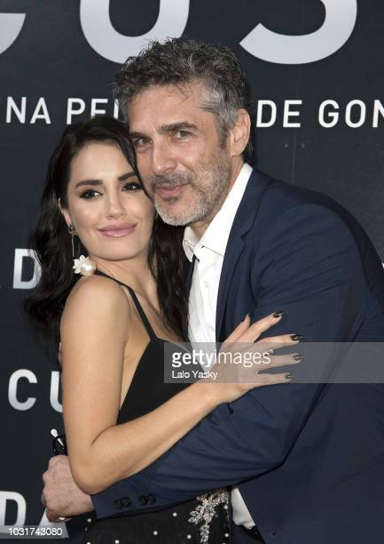 Actress and singer Lali Esposito and actor Leonardo Sbaraglia attend the premiere of 'Acusada' at the Hoyts Dot Cinema on September 11 2018 in Buenos...