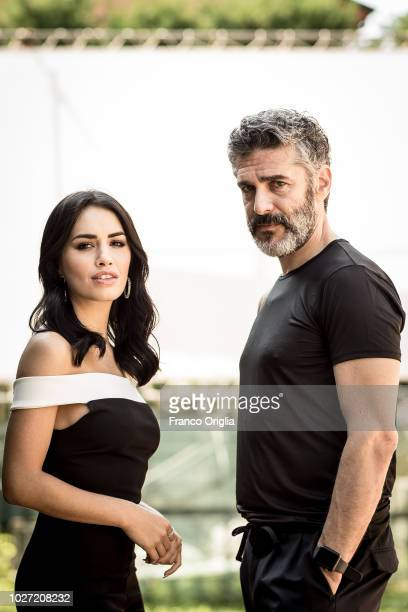 Actress and singer Lali Esposito and actor Leonardo Sbaraglia pose for a portrait session during the 75th Venice Film Festival on September 5 2018 in...
