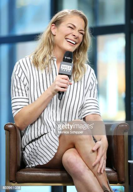 Actress and singer LeAnn Rimes discusses her role in the film 'Logan Lucky' at Build Studio on August 17 2017 in New York City