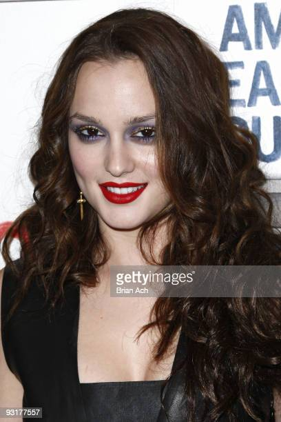 Actress and singer Leighton Meester attends the grand opening celebration at American Eagle Outfitters Times Square on November 17 2009 in New York...
