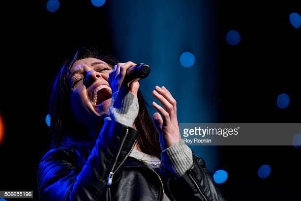 Actress and singer Lena Hall attends BroadwayCon 2016 at the New York Hilton Midtown on January 24, 2016 in New York City.