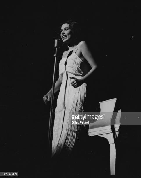 Actress and singer Lena Horne performs live on stage in 1940