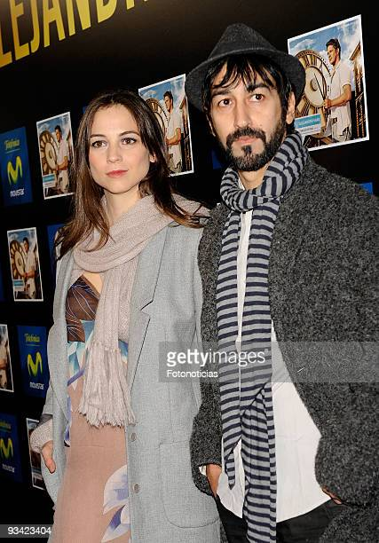 Actress and singer Leonor Watling and Alejandro Pelayo of Marlango, attend the Alejandro Sanz concert, at the Compac Gran Via Theatre on November 25,...