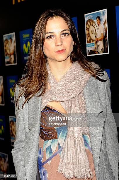 Actress and singer Leonor Watling attends the Alejandro Sanz concert, at the Compac Gran Via Theatre on November 25, 2009 in Madrid, Spain.